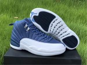 2020 Air Jordan 12 SE Indigo Stone Blue-Obsidian UK Mens 130690-404