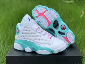 2020 Air Jordan 13 GS Aurora Green Shoes UK 439358-100