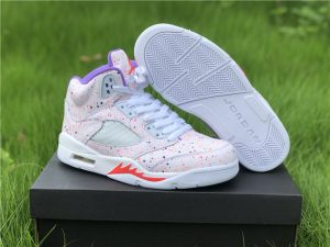 2020 Air Jordan 5 GS Easter Splatter Girls Shoes CT1605-100