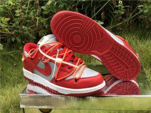 Buy Nike Dunk Low Off-White University Red UK CT0856-600