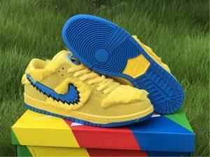 Grateful Dead x Nike SB Dunk Low Yellow Bear Shoes UK CJ5378-700