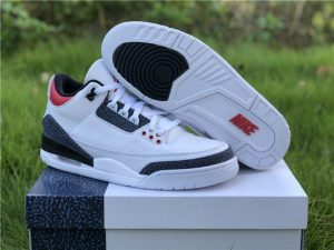 Men's Air Jordan 3 SE Denim Fire Red Sneakers UK CZ6431-100