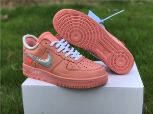 Nike Air Force 1 X off-White Pink Silver UK Size CI1173-601