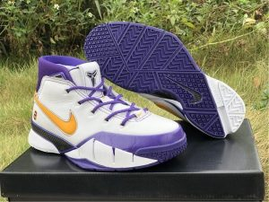 Nike Kobe 1 Protro Final Seconds White Purple UK Online AQ2728-101
