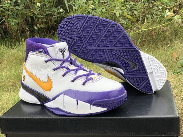 Nike Kobe 1 Protro Final Seconds White Purple UK Online AQ2728-101