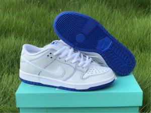 Nike SB Dunk Low Premium White Game Royal For Sale UK CJ6884-100