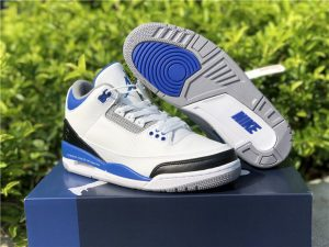 Air Jordan 3 Retro White Blue UK Mens Size CT8532-040