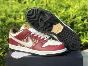 Dior x Nike Dunk Low Red White Sneakers UK Online CN6818-006