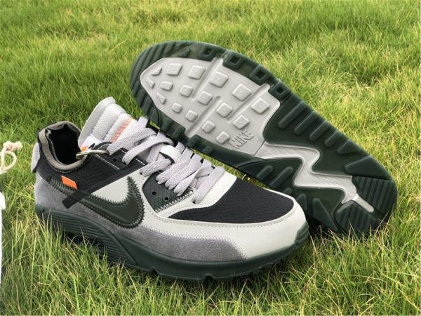 Off-White x Nike Air Max 90 Grey Green UK For Sale