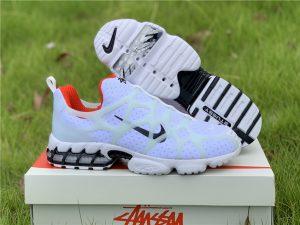 Stüssy x Nike Air Zoom Spiridon Kukini White Red Black For Cheap CJ9918-100