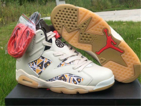 Cheap Air Jordan 6 Quai 54 Sail Basketball Sneaker CZ4152-100