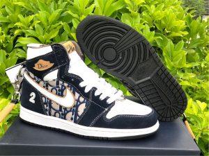 Dior x Air Jordan 1 High OG Black White For Sale CD0461-200