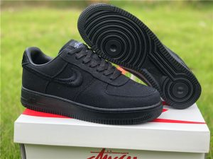 Stussy x Nike Air Force 1 Low Black To Buy CZ9084-001