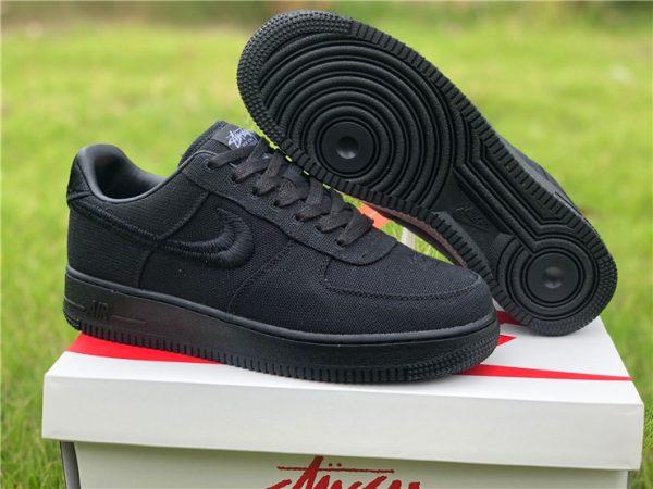 Stussy x Nike Air Force 1 Low Black To Buy CZ9084-001