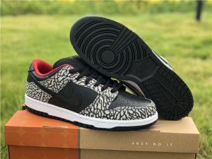 Supreme x Nike SB Dunk Low Pro Black Cement Cheap UK 304292-131
