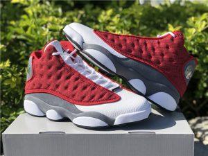 2021 Air Jordan 13 Gym Red Flint Grey-White-Black UK Release DJ5982-600