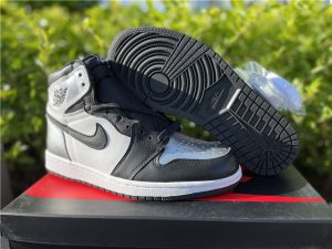 2021 Latest Air Jordan 1 High OG Silver Toe UK Shoes CD0461-001