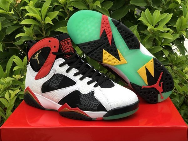 Air Jordan 7 GC China White Chile Red-Black-Metallic Gold CW2805-160