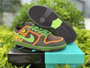 Nike SB Dunk Low De La Soul Green Brown UK Hot Sale 789841-332
