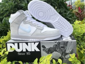 Slam Jam X Nike Dunk High Light Grey UK Hot Sale DA1639-100