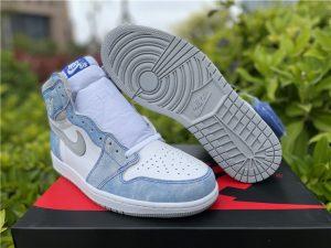 2021 Air Jordan 1 Retro High OG Hyper Royal Shoes for Men 555088-402
