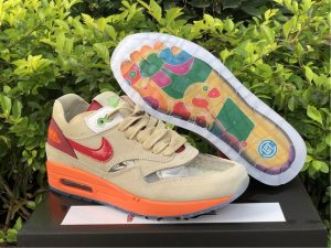 2021 CLOT x Nike Air Max 1 Kiss Of Death Cheap Price DD1870-100