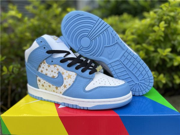 2021 Supreme x Nike SB Dunk High Pro Blue UK Online 307385-141