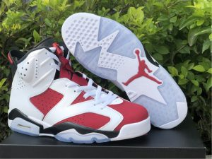 Cheap Air Jordan 6 Retro Carmine White Black Sneakers CT8529-106