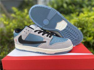 Discount Nike SB Dunk Low Premium TS Grey Blue Black UK CU1726-400