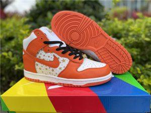 Supreme x Nike SB Dunk High Stars Orange To Buy 307385-181
