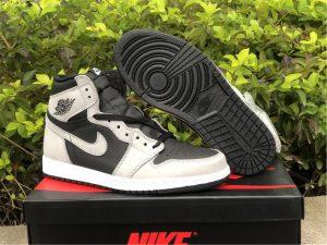2021 Air Jordan 1 High OG Shadow 2.0 Light Smoke Grey 555088-035