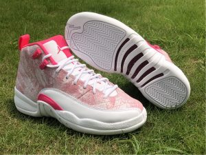 2021 Latest Air Jordan 12 GS Arctic Punch Girls Shoes 510815-101
