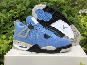 2021 Mens Air Jordan 4 UNC University Blue UK Price CT8527-400