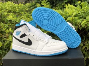 2021 Release Air Jordan 1 Mid Laser Blue UK 554724-141