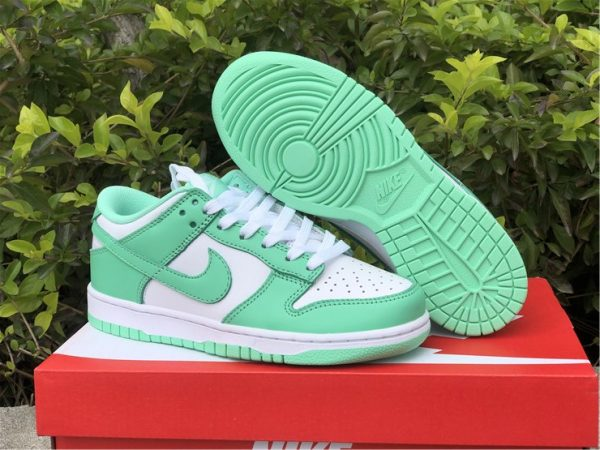 2021 Womens Nike Dunk Low Green Glow For Sale DD1503-105