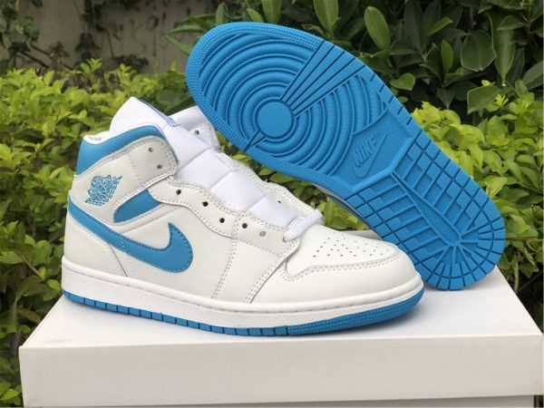 Air Jordan 1 Mid UNC White Blue UK To Buy BQ6472-114