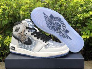 Dior x Air Jordan 1 High Gray White UK For Men