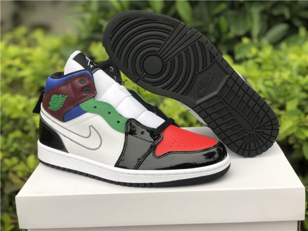 New Air Jordan 1 Mid Bred White Multi-Color For Sale DB5454-001