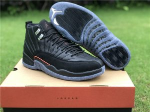 2021 Air Jordan 12 Retro Utility Black Bright Crimson White UK DC1062-006