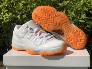 2021 New Air Jordan 11 Low WMNS Citrus UK Online AH7860-139
