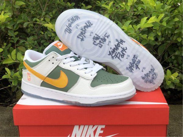 2021 Nike Dunk Low NY vs NY Green Orange White UK DN2489-300