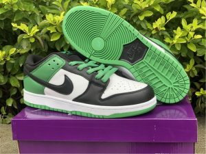 2021 Nike SB Dunk Low Classic Green Black Cheap Sale BQ6817-302