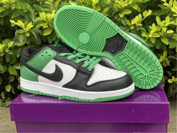 2021 Nike SB Dunk Low Classic Green Black Cheap Sale BQ6817-302