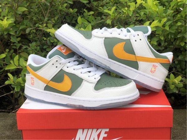 Cheap Nike Dunk Low NY vs NY Green Orange White UK DN2489-300