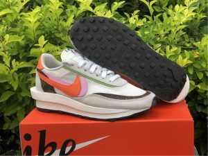 New Nike LDWaffle Sacai Medium Grey Orange Pink UK BV0076-002