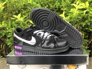 Off-White x Nike Dunk Low The 50 Black Silver To Buy DM1602-001