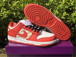 Supreme x Nike SB Dunk Low White Red To Buy DH3228-161