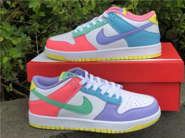 Womens Nike Dunk Low SE Easter Pastel Multi UK Sale DD1872-100-5
