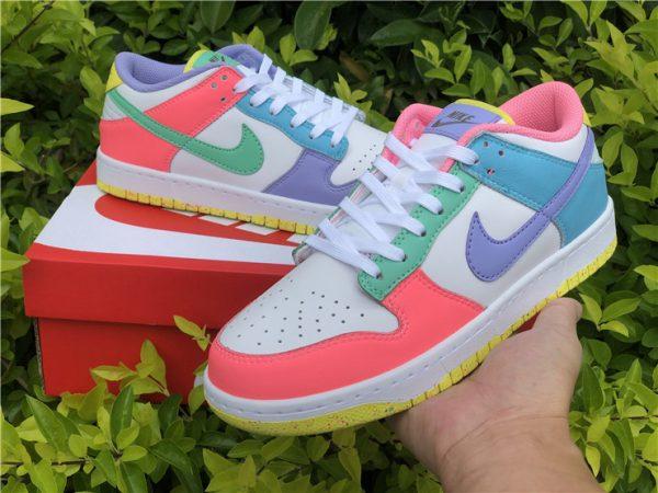 Womens Nike Dunk Low SE Easter Pastel Multi UK Sale DD1872-100-4