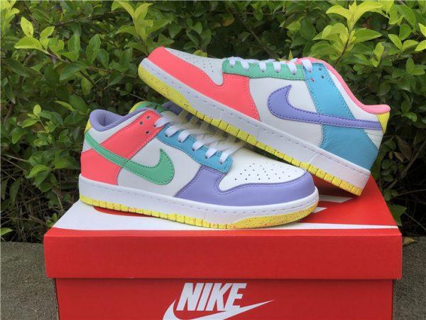 Womens Nike Dunk Low SE Easter Pastel Multi UK Sale DD1872-100-2